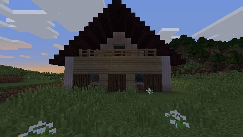 moderne scheune zum leben in minecraft bauen minecraft. Black Bedroom Furniture Sets. Home Design Ideas