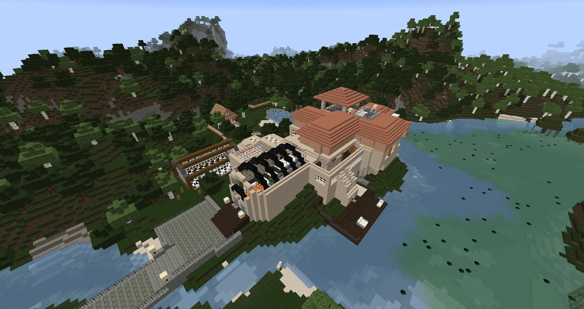 Luxus Minecraft Villa Bauplan Ideen