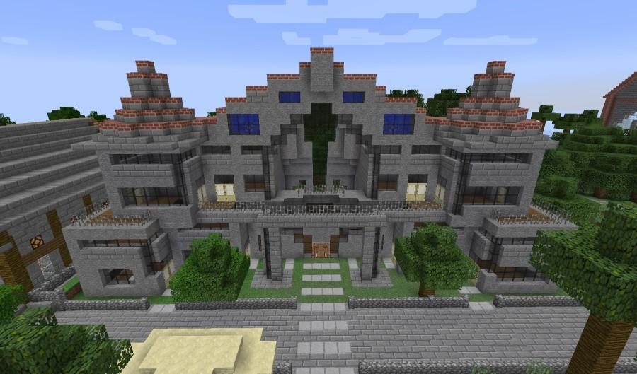 5 sterne hotel mit strand in minecraft bauen minecraft. Black Bedroom Furniture Sets. Home Design Ideas