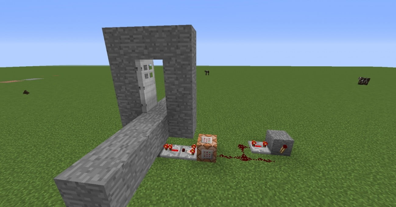 automatische t r in minecraft bauen minecraft. Black Bedroom Furniture Sets. Home Design Ideas