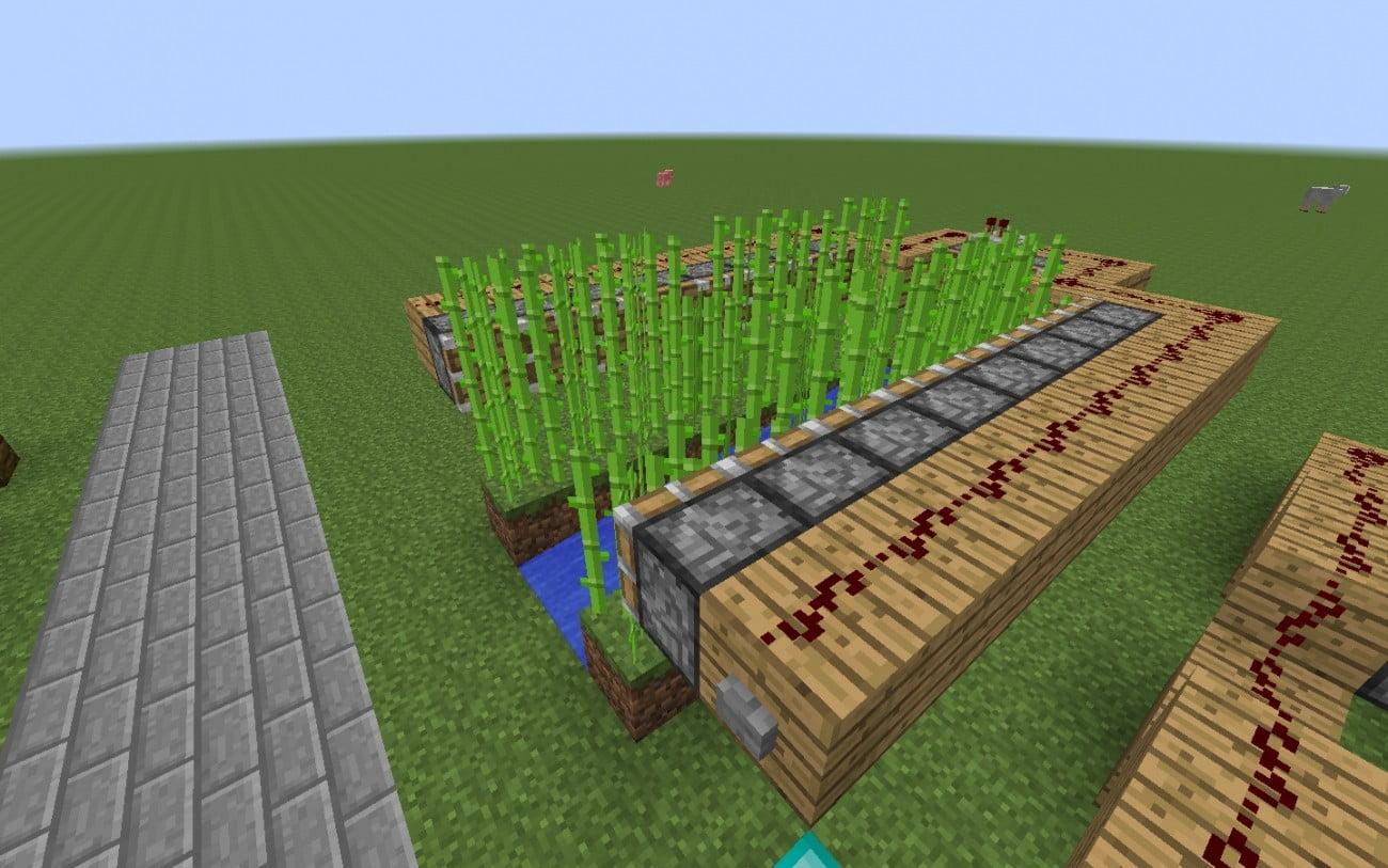 automatische zuckerrohr farm in minecraft bauen. Black Bedroom Furniture Sets. Home Design Ideas