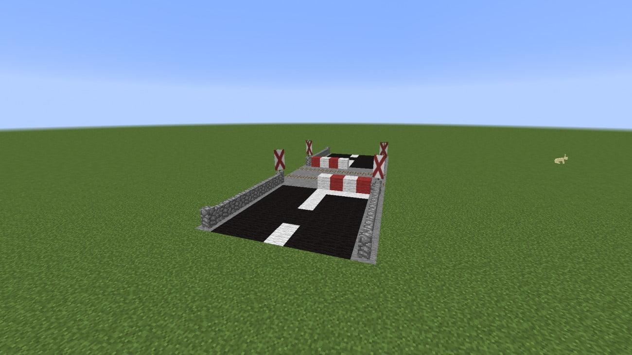 ᐅ Bahnübergang mit Andreaskreuz in Minecraft bauen - minecraft ...
