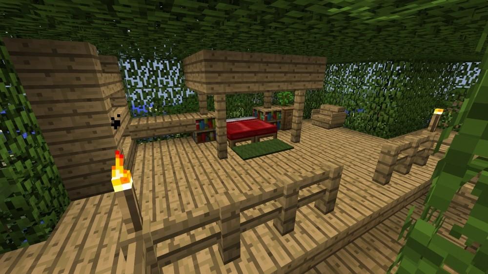baum haus in minecraft bauen minecraft. Black Bedroom Furniture Sets. Home Design Ideas