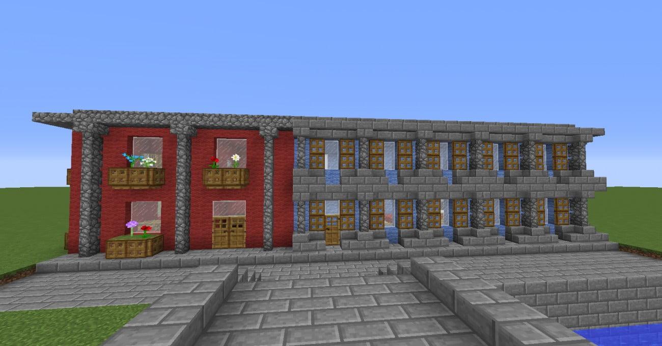 ᐅ Blockhaus In Minecraft Bauen Minecraftbauideende - Minecraft altmodische hauser bauen