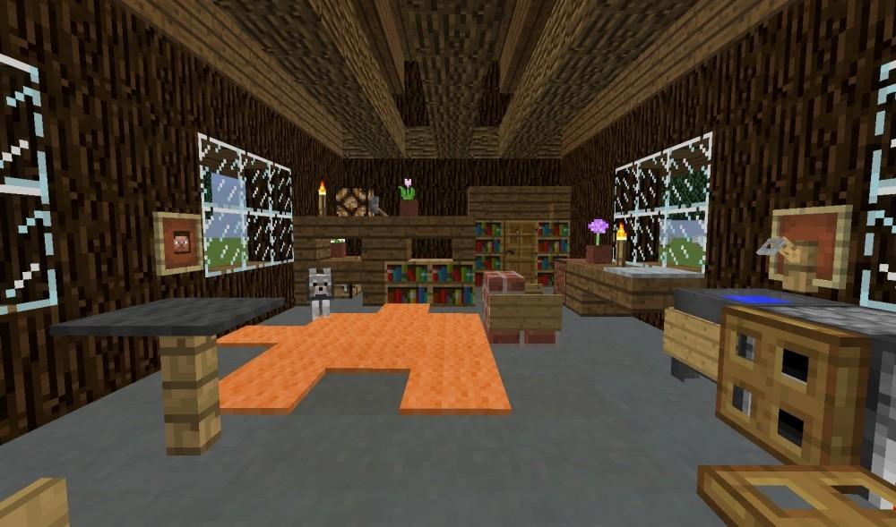 Blockh tte haus im wald minecraft bauideen - Minecraft inneneinrichtung ...
