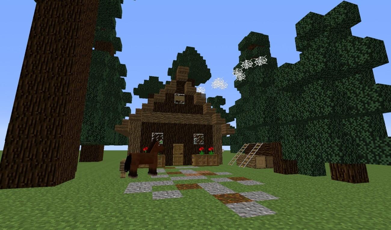 ᐅ Blockhütte Haus Im Wald In Minecraft Bauen Minecraftbauideende - Minecraft hauser mit bauplan