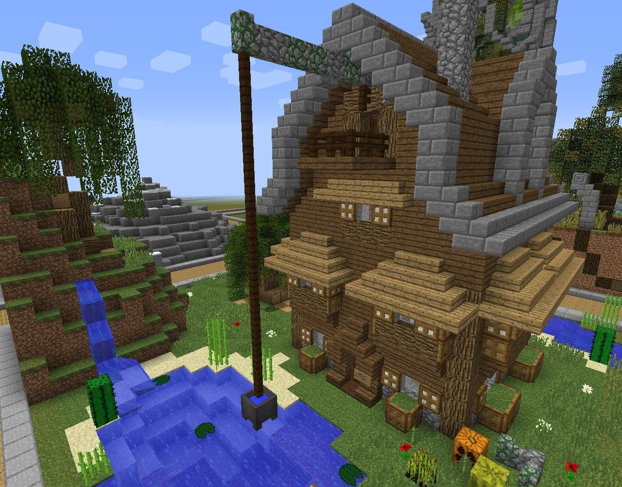 Minecraft Haus Ideen ᐅ brunnen am haus in minecraft bauen minecraft bauideen de