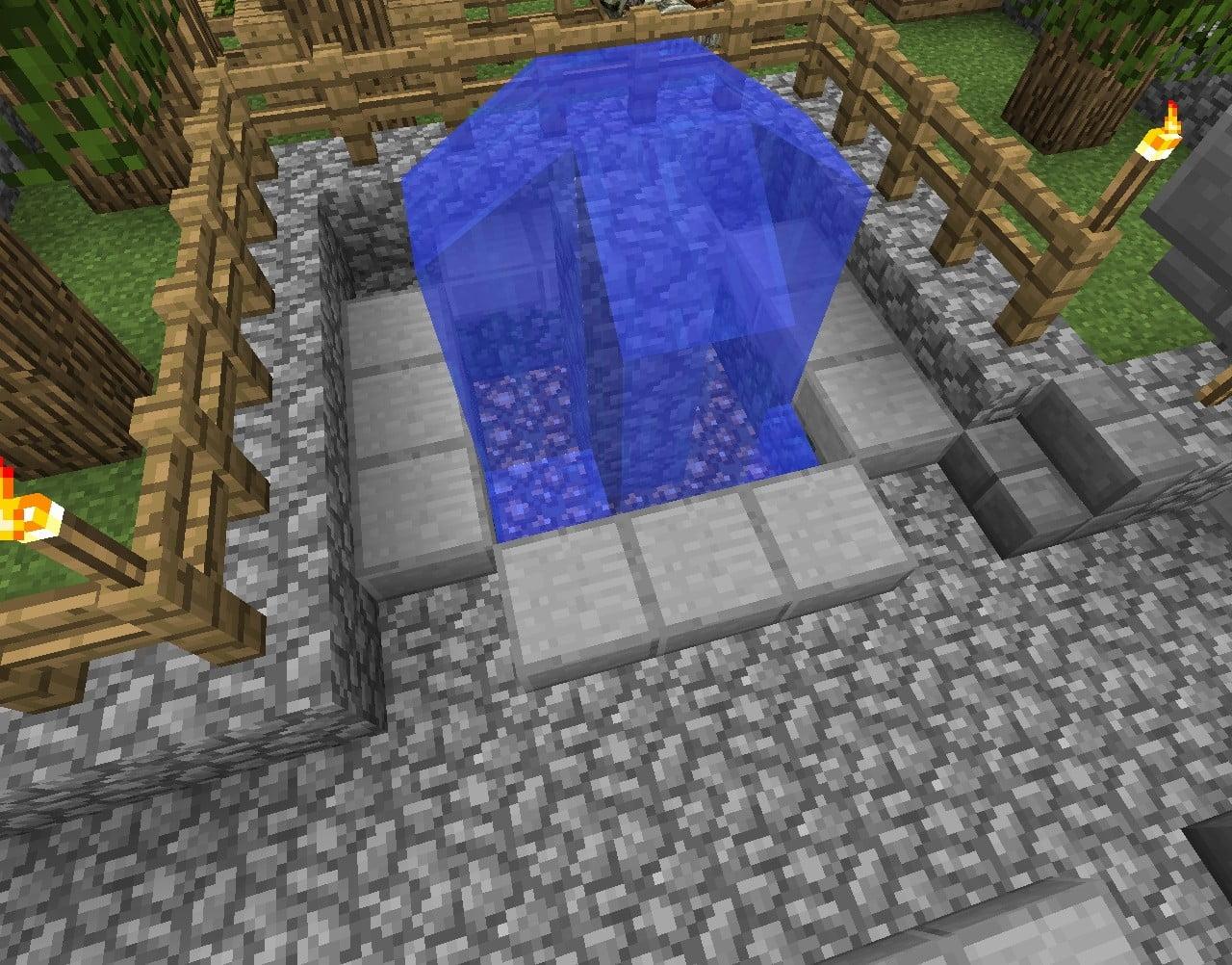 ᐅ Brunnen Mit Glowstone In Minecraft Bauen Minecraft Bauideen De