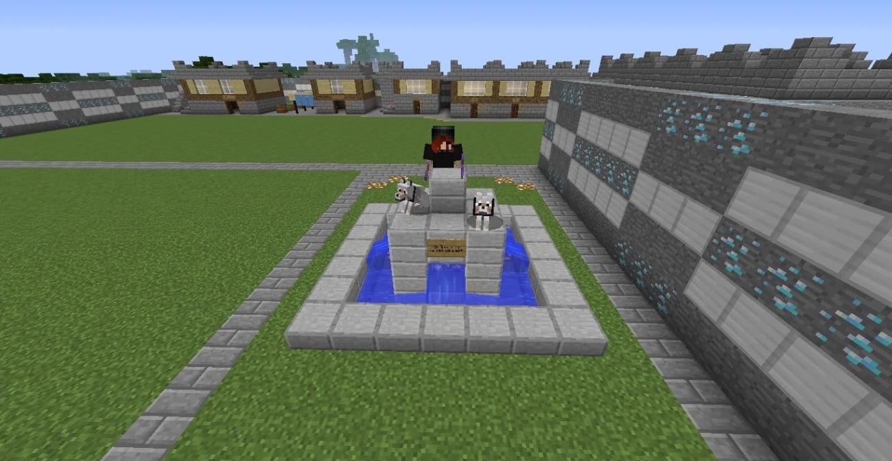 ᐅ Brunnen Mit Heldenstatue In Minecraft Bauen Minecraft Bauideen De