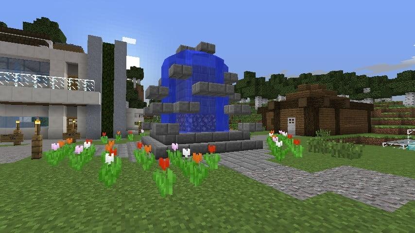 ᐅ Brunnen Mit Stufen In Minecraft Bauen Minecraft Bauideen De