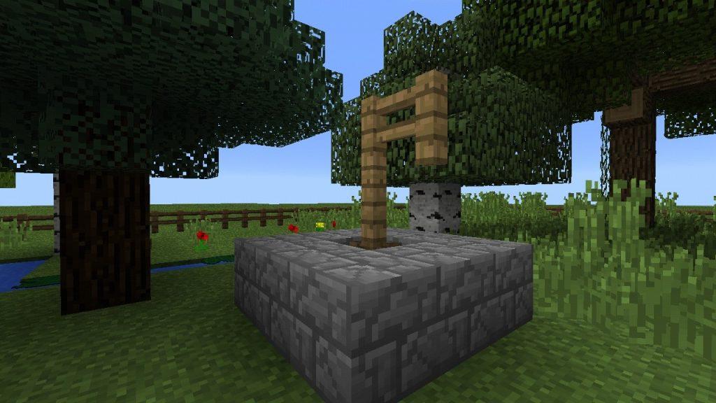brunnen mit wasserpumpe in minecraft bauen minecraft. Black Bedroom Furniture Sets. Home Design Ideas