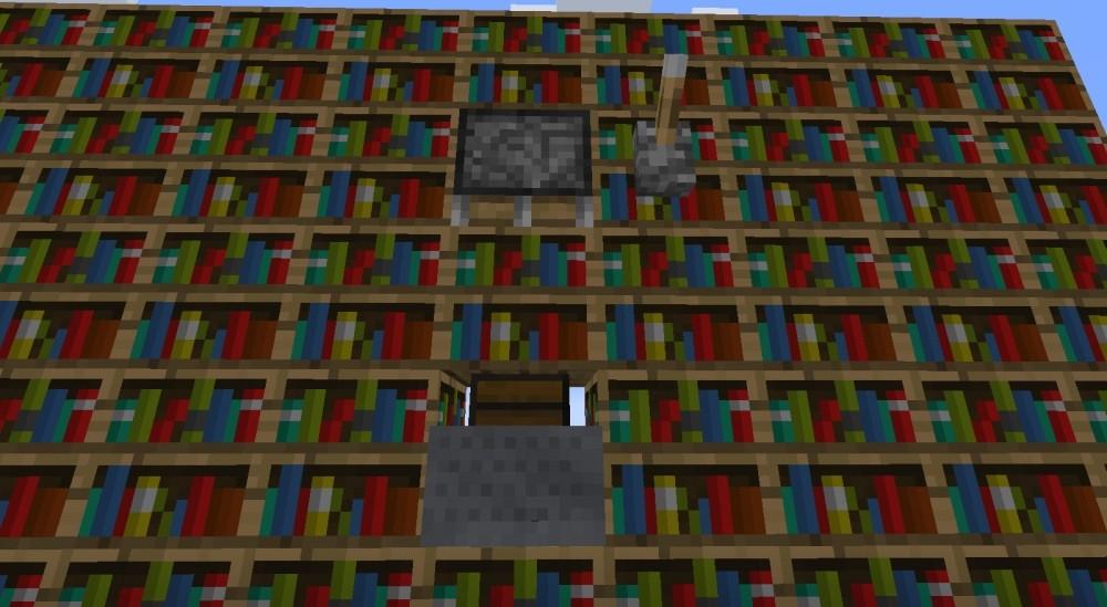 Bücherregal mit richtigen Büchern drin – Minecraft Bauideen