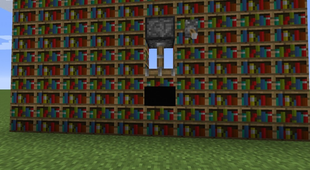 Bücherregale Minecraft ᐅ bücherregal mit richtigen büchern drin in minecraft bauen