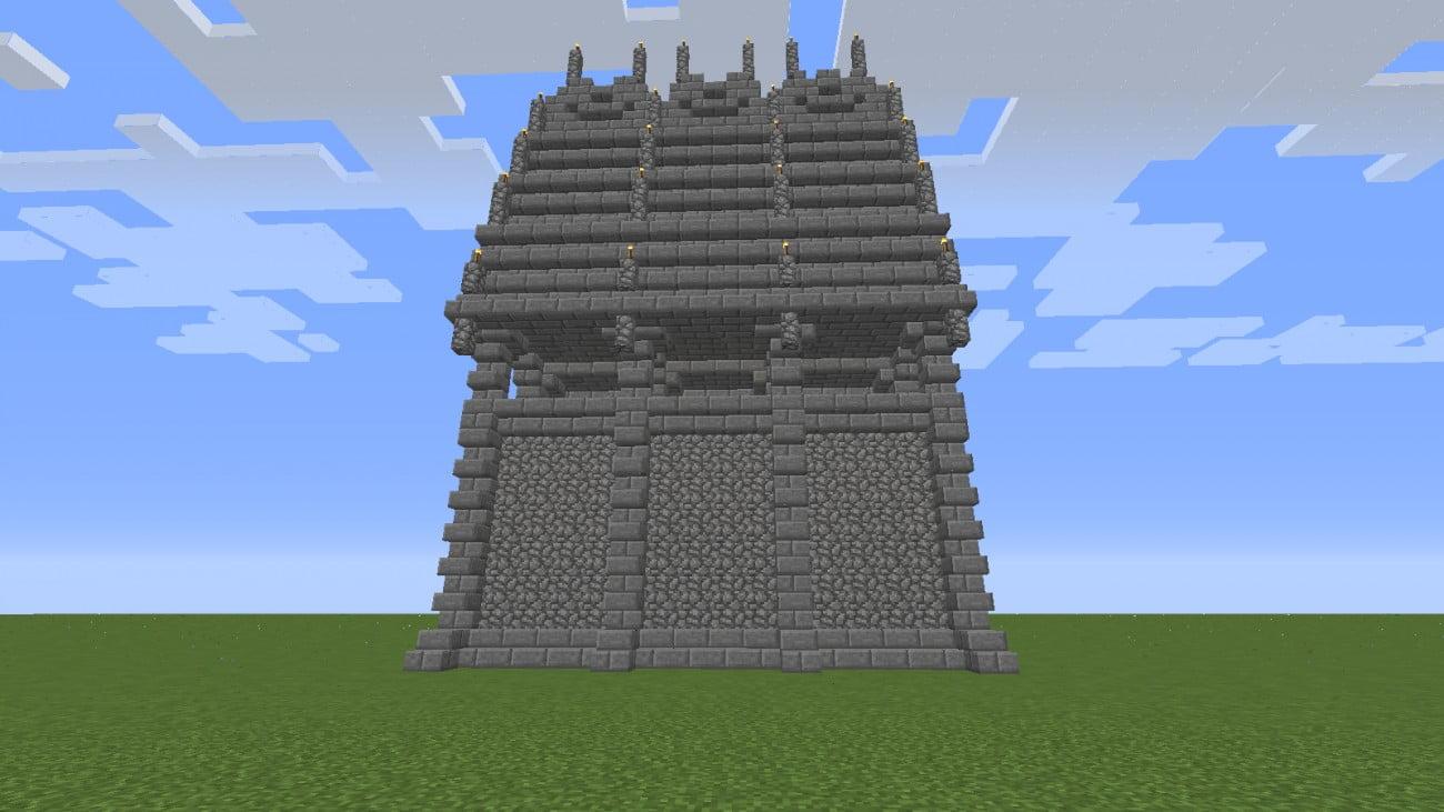 burgmauer aus der gotik in minecraft bauen minecraft. Black Bedroom Furniture Sets. Home Design Ideas