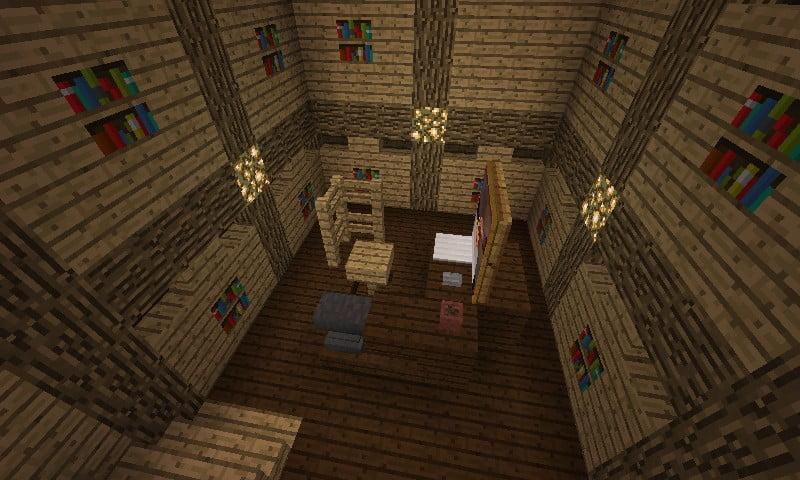 computerzimmer in minecraft bauen minecraft. Black Bedroom Furniture Sets. Home Design Ideas