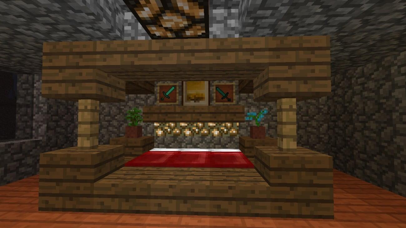 Dekoratives bett in minecraft bauen minecraft - Minecraft schlafzimmer ...