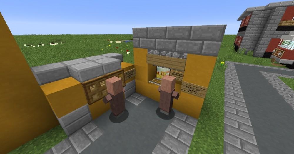 die post in minecraft bauen minecraft. Black Bedroom Furniture Sets. Home Design Ideas