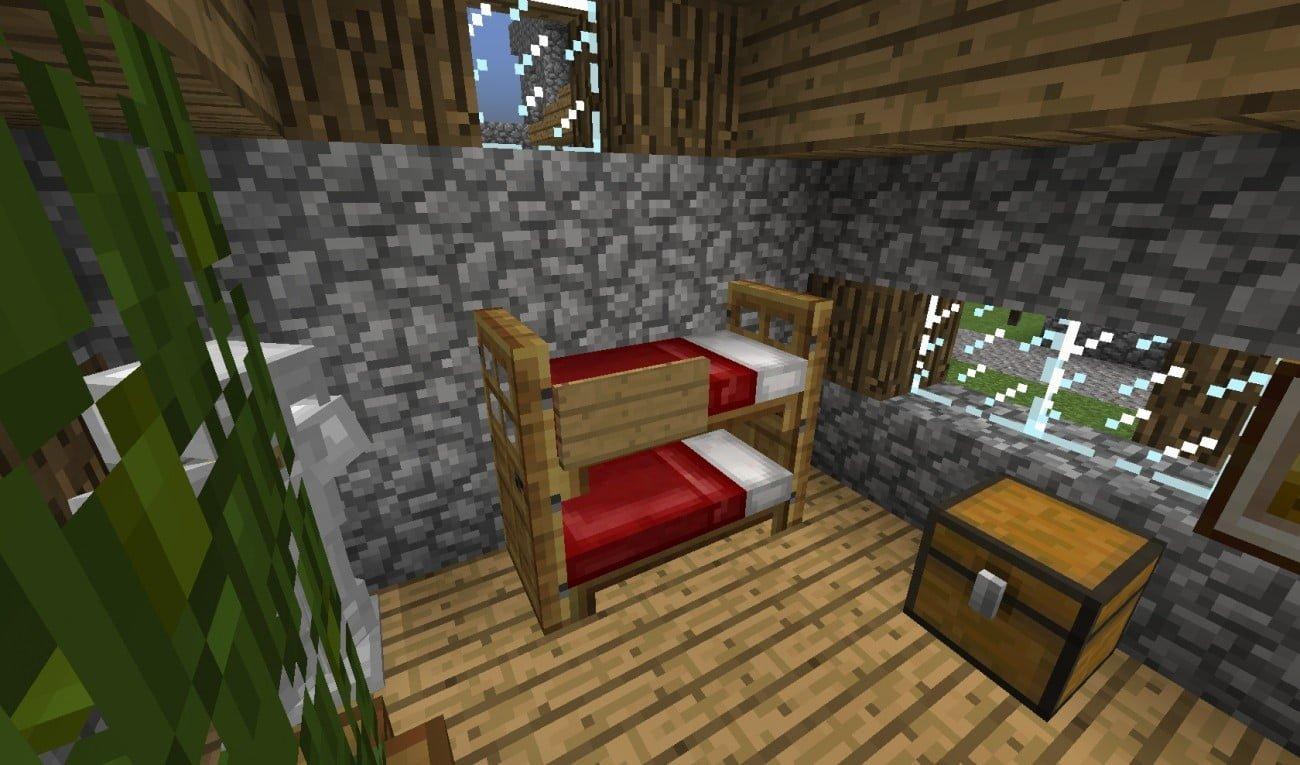 Häufig ᐅ Doppelstockbett in Minecraft bauen - minecraft-bauideen.de ZR11