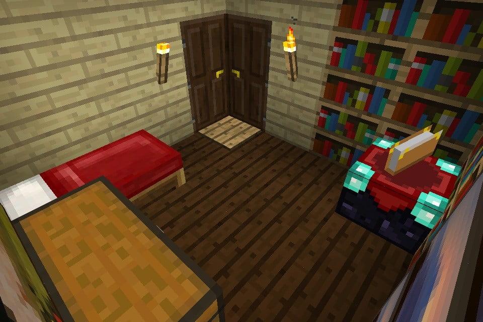 eckt r in minecraft bauen minecraft. Black Bedroom Furniture Sets. Home Design Ideas