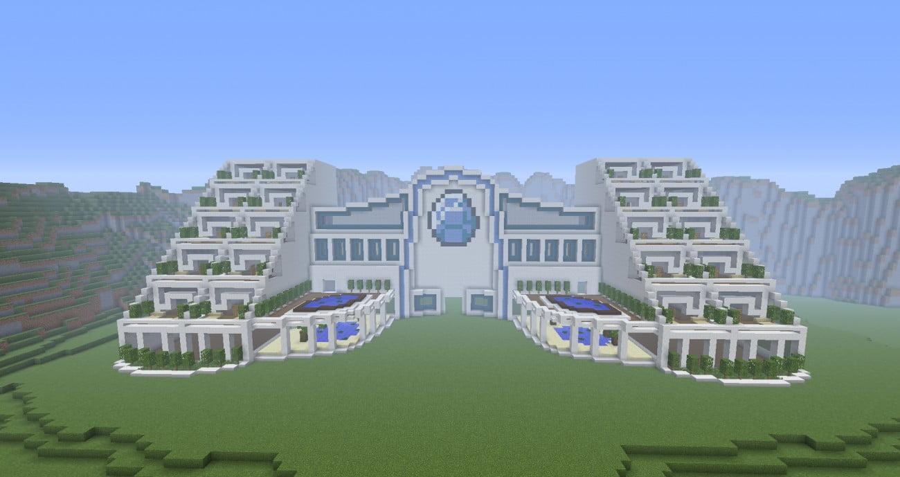Ein gro es hotel in minecraft bauen minecraft for Bauideen minecraft