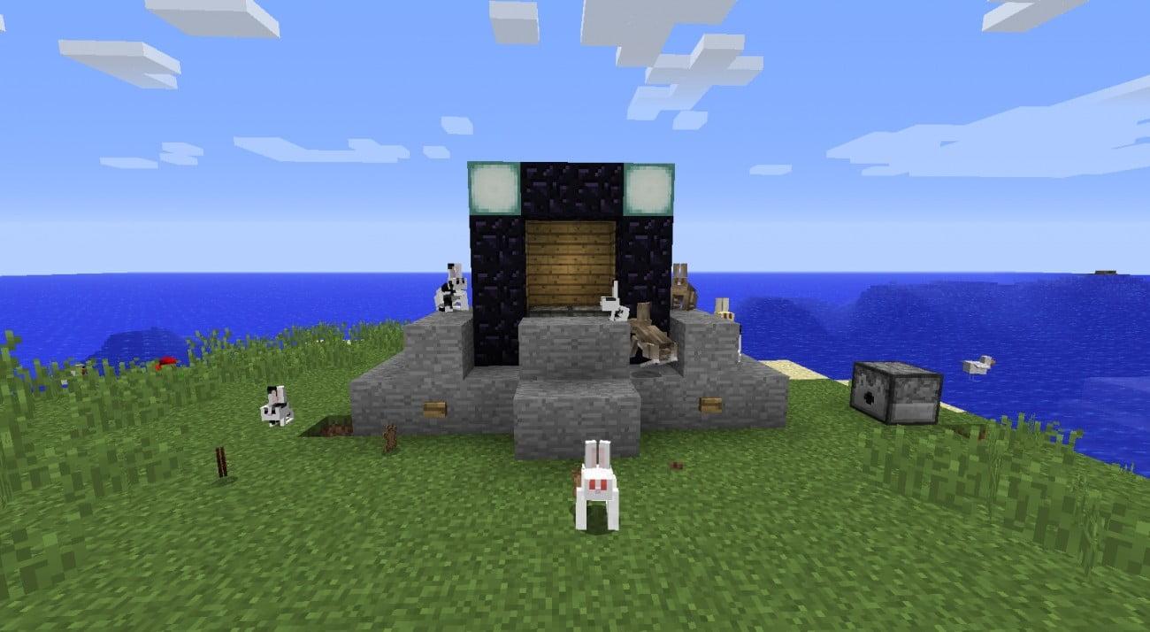 ᐅ Ein Und Ausschaltbares Netherportal In Minecraft Bauen - Minecraft hauser verschieben