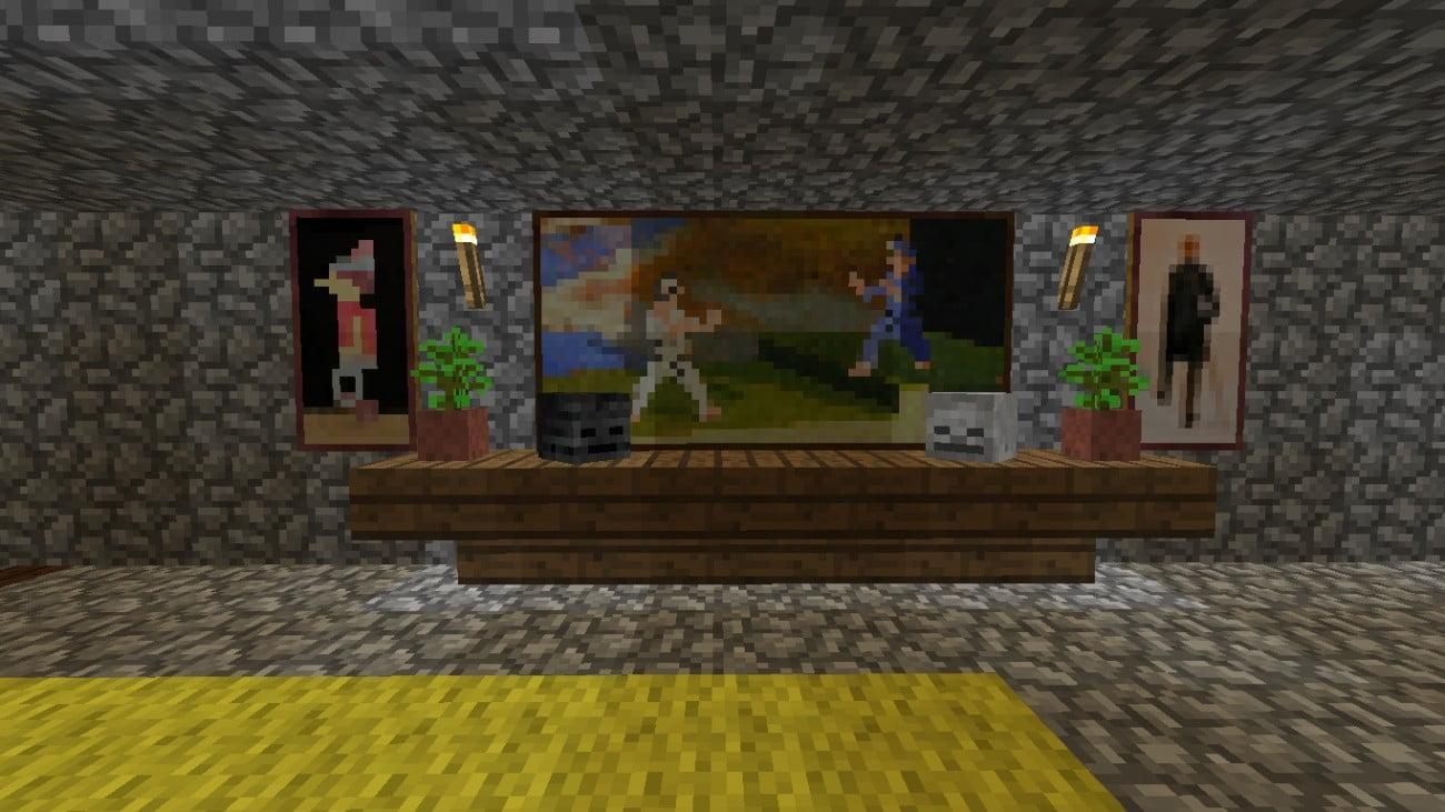 einfache wanddekoration in minecraft bauen minecraft. Black Bedroom Furniture Sets. Home Design Ideas