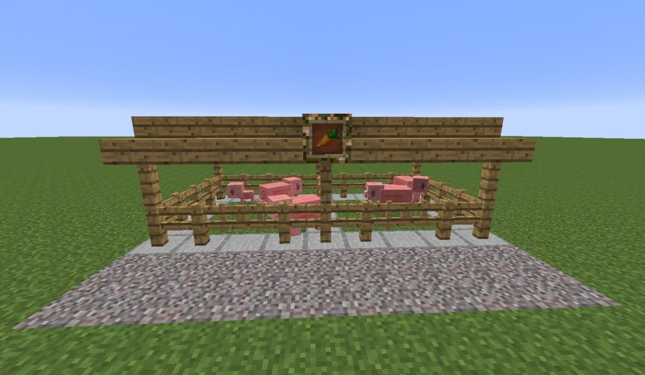 einfacher stall in minecraft bauen minecraft. Black Bedroom Furniture Sets. Home Design Ideas