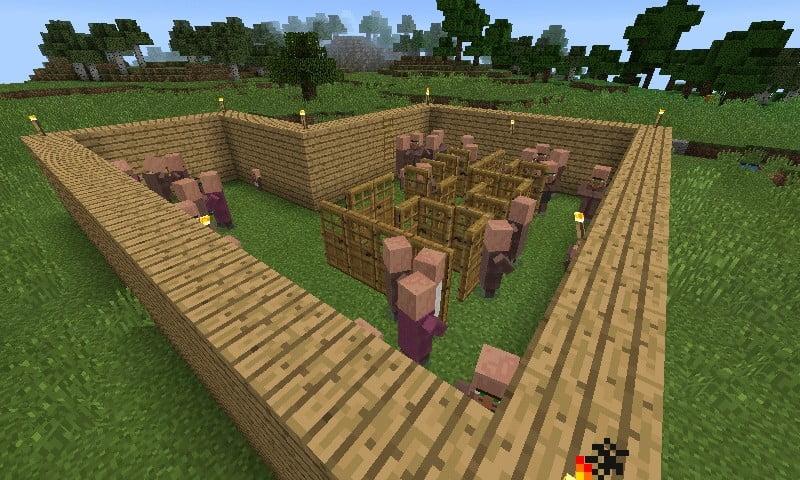 eisengolem farm in minecraft bauen minecraft. Black Bedroom Furniture Sets. Home Design Ideas