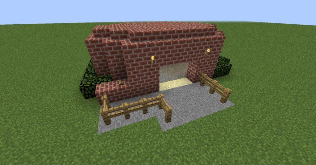 elektrisches garagentor in minecraft bauen minecraft. Black Bedroom Furniture Sets. Home Design Ideas