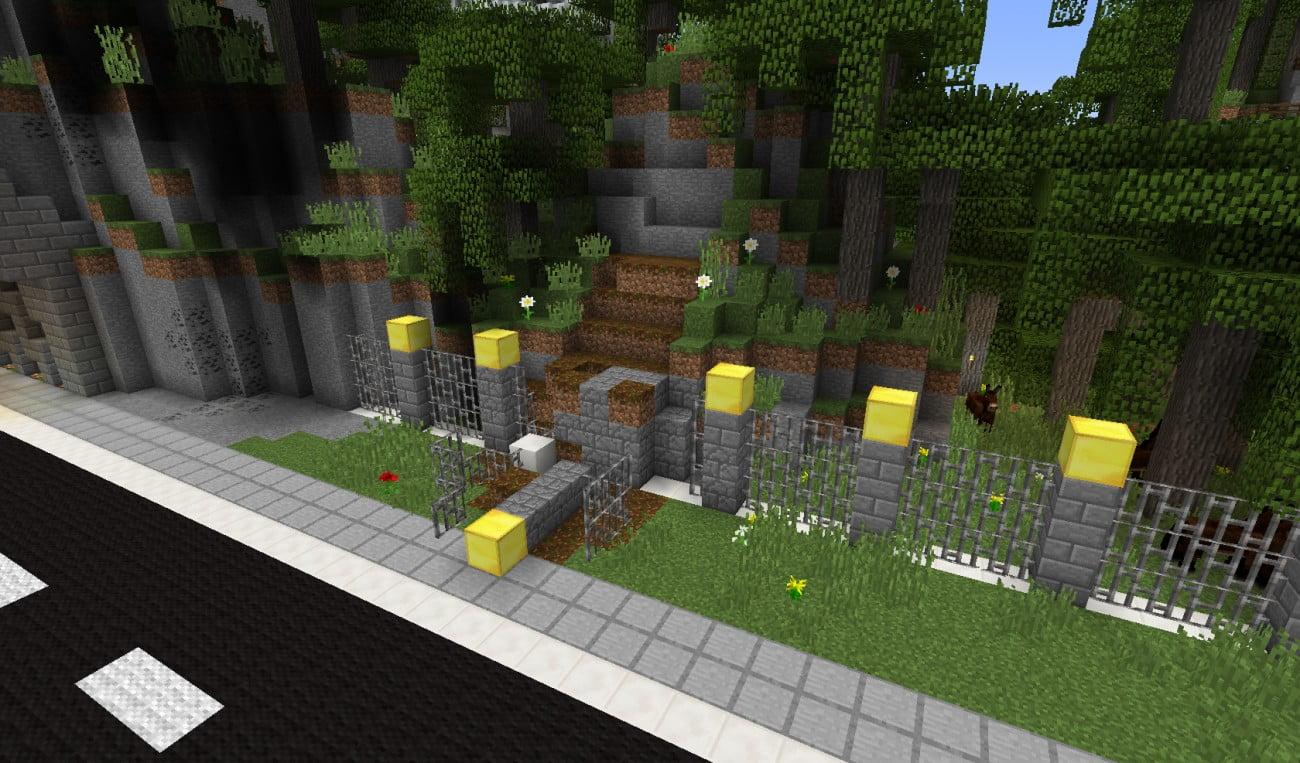 erdrutsch in minecraft bauen minecraft. Black Bedroom Furniture Sets. Home Design Ideas