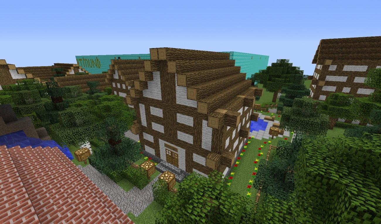 Fachwerkhaus in minecraft bauen minecraft for Fachwerkhaus bauen