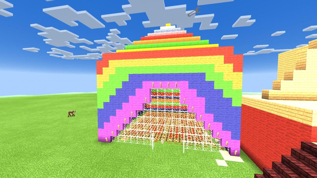 ᐅ Farbiges Zelt In Minecraft Bauen Minecraftbauideende - Minecraft haus bauen grob