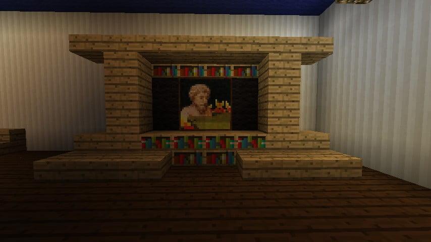 Fernseher mit b chern in minecraft bauen minecraft - Minecraft wohnzimmer ...