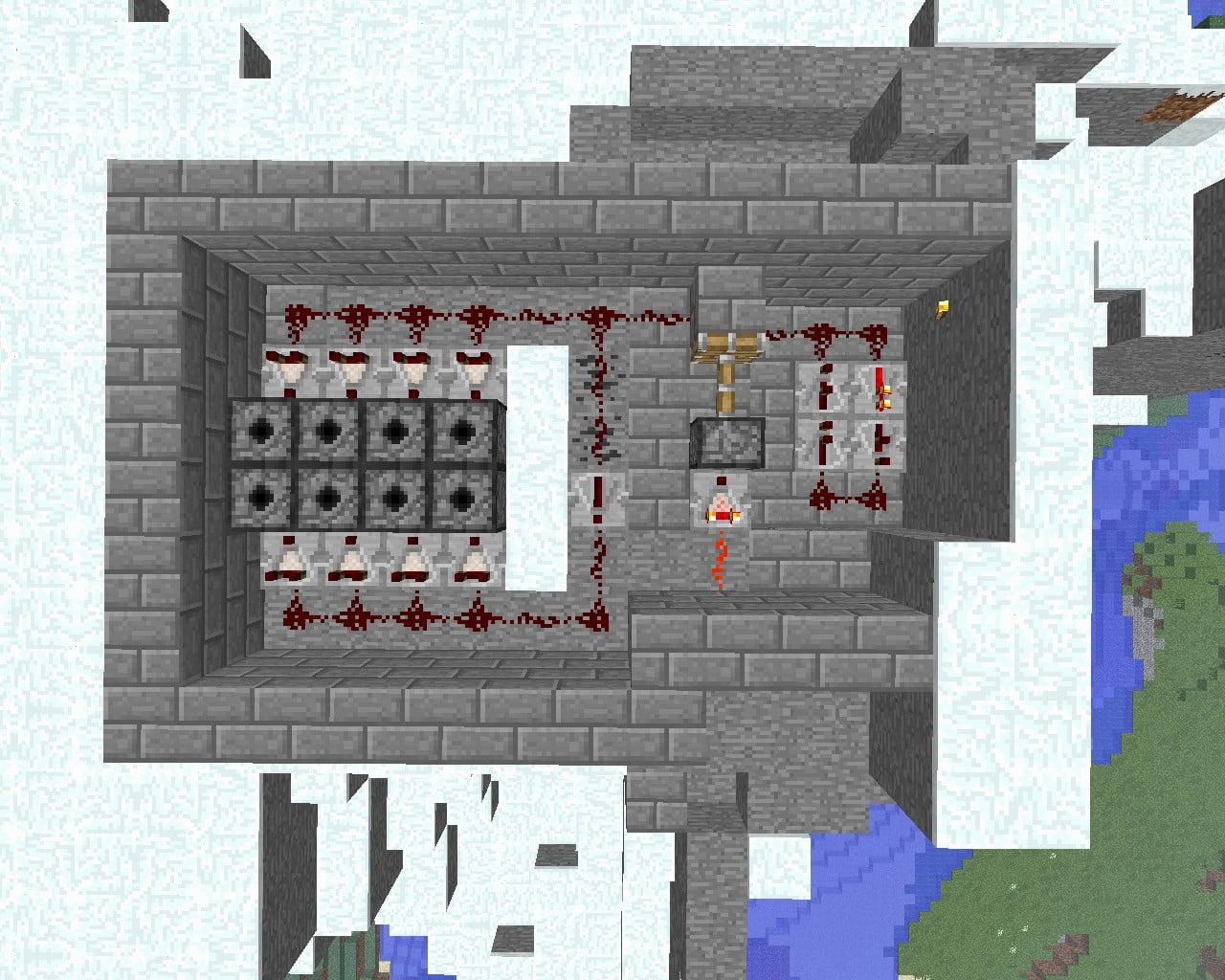 feuerwerksmaschine in minecraft bauen minecraft. Black Bedroom Furniture Sets. Home Design Ideas