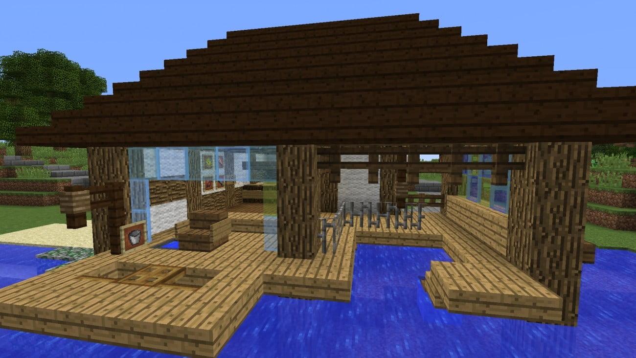 ᐅ Fischerhütte Am Wasser In Minecraft Bauen Minecraftbauideende - Minecraft haus aus wasser bauen