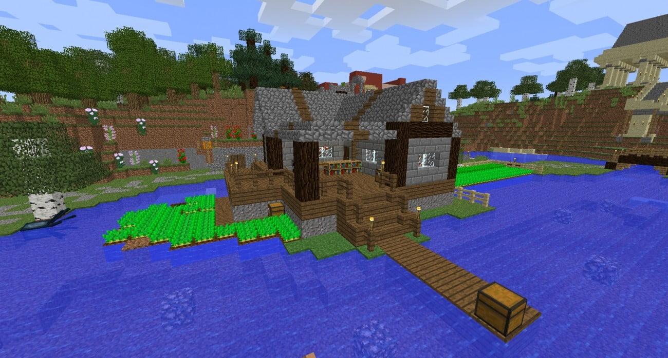 ᐅ Fischerhütte In Minecraft Bauen Minecraftbauideende - Minecraft haus mit garten bauen