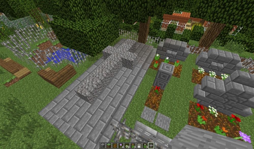 friedhof in minecraft bauen minecraft. Black Bedroom Furniture Sets. Home Design Ideas