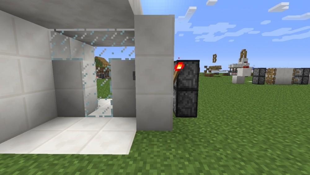 futuristische t r in minecraft bauen minecraft. Black Bedroom Furniture Sets. Home Design Ideas