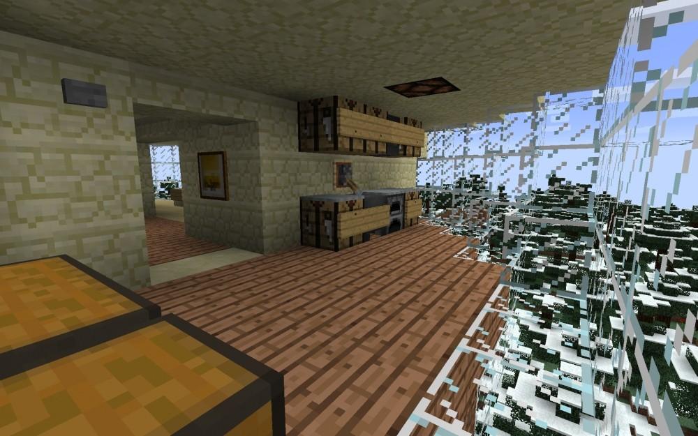 futuristisches kugel haus in minecraft bauen minecraft. Black Bedroom Furniture Sets. Home Design Ideas