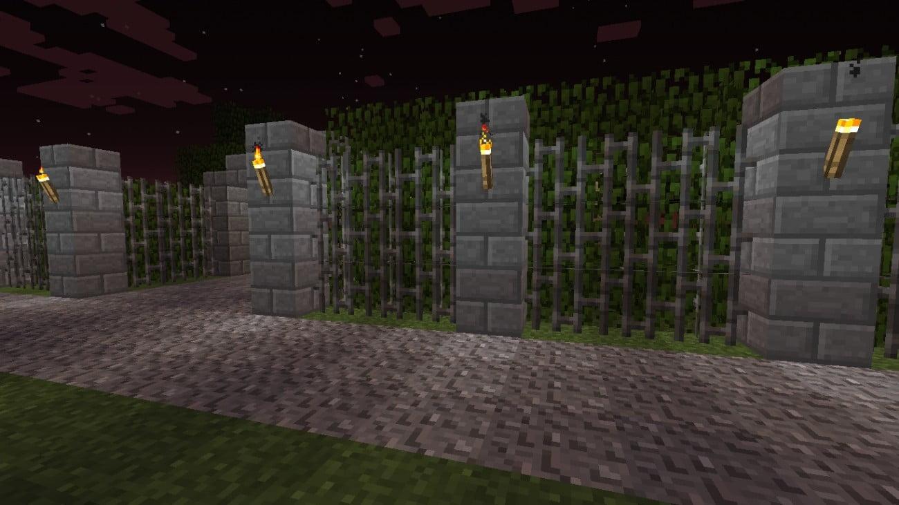 gartenmauer mit hecke in minecraft bauen minecraft. Black Bedroom Furniture Sets. Home Design Ideas