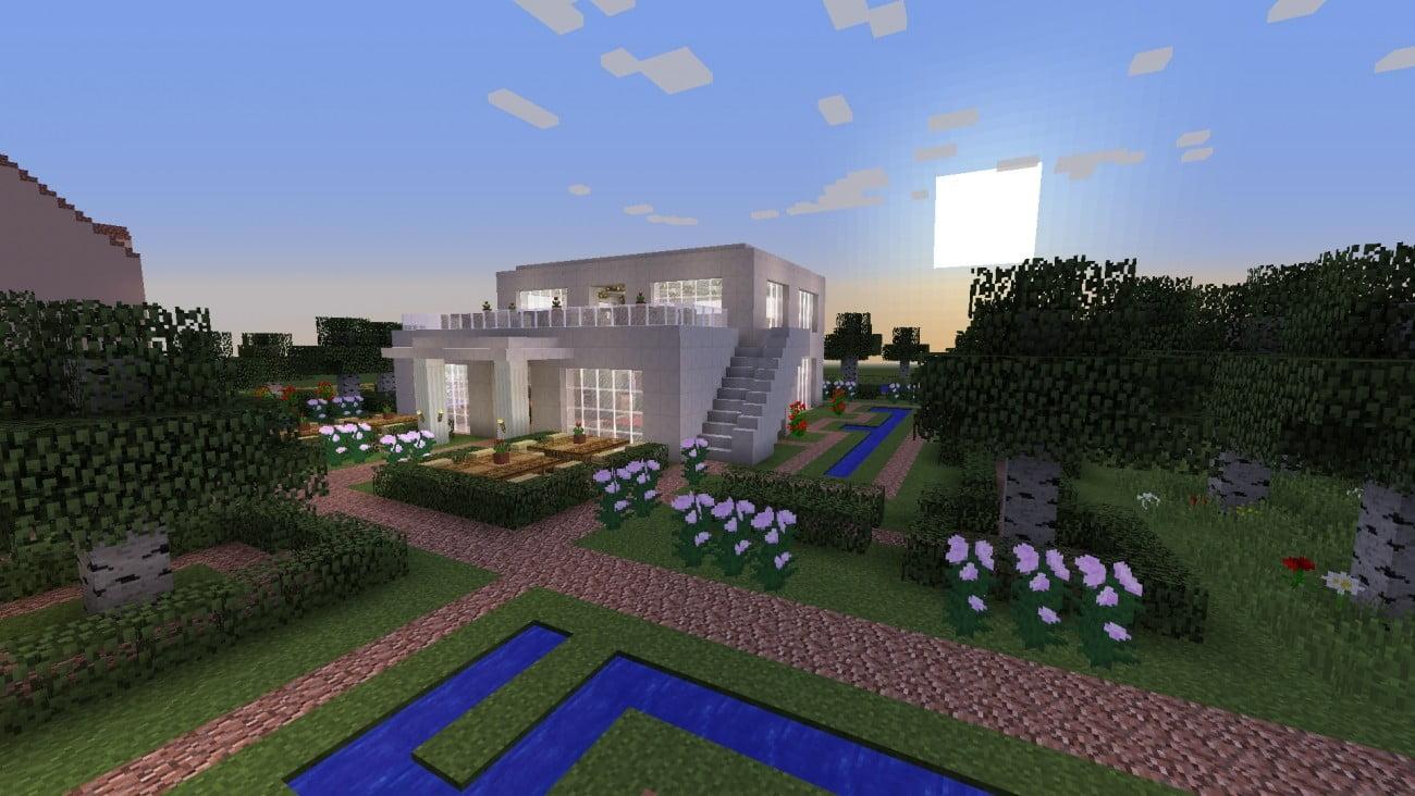 gastst tte in minecraft bauen minecraft. Black Bedroom Furniture Sets. Home Design Ideas