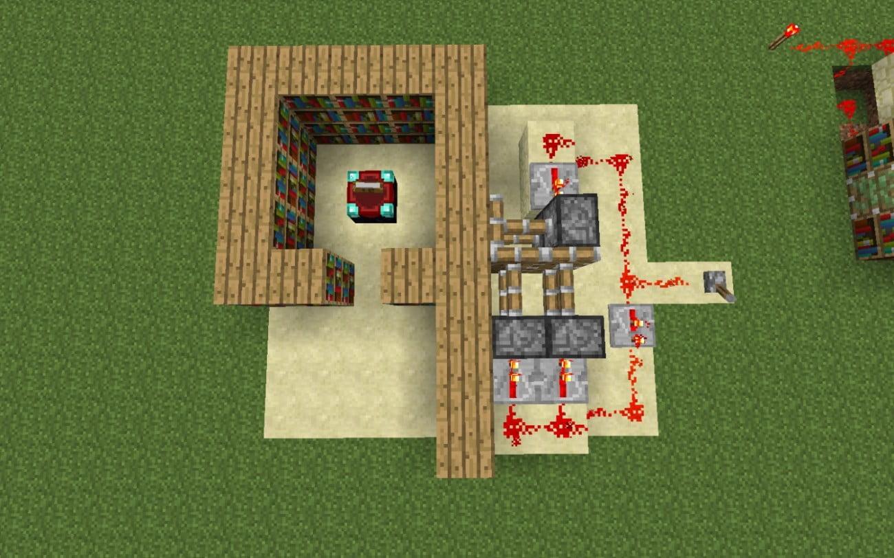 geheimgang in wand in minecraft bauen minecraft. Black Bedroom Furniture Sets. Home Design Ideas