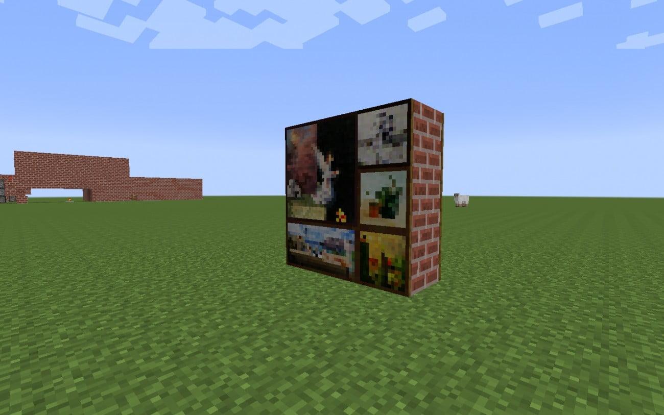 geheimgang mit bildern in minecraft bauen minecraft. Black Bedroom Furniture Sets. Home Design Ideas