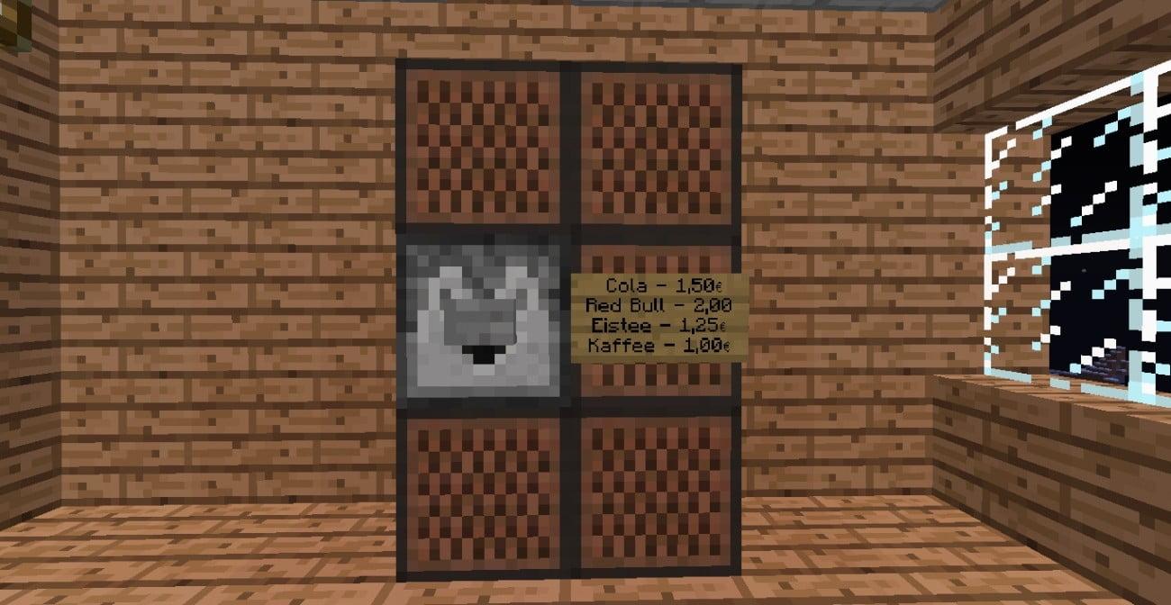 ᐅ Getränkeautomat in Minecraft bauen - minecraft-bauideen.de