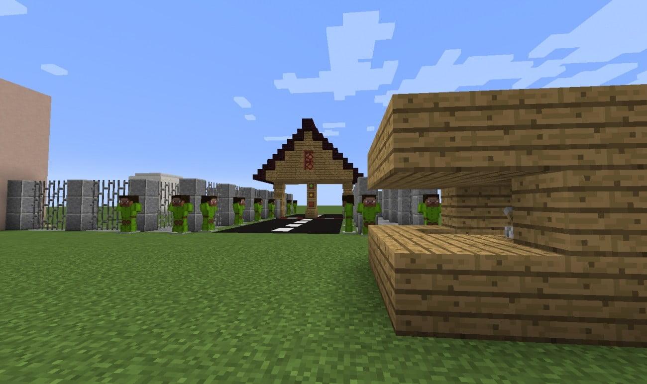 grenze in minecraft bauen minecraft. Black Bedroom Furniture Sets. Home Design Ideas