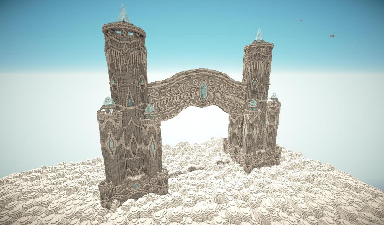 ᐅ Grosses Schloss über Den Wolken In Minecraft Bauen Minecraft - Minecraft hauser verschieben