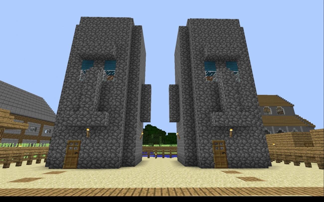 Dumm dumm schädelhäuser in minecraft bauen minecraft bauideen de