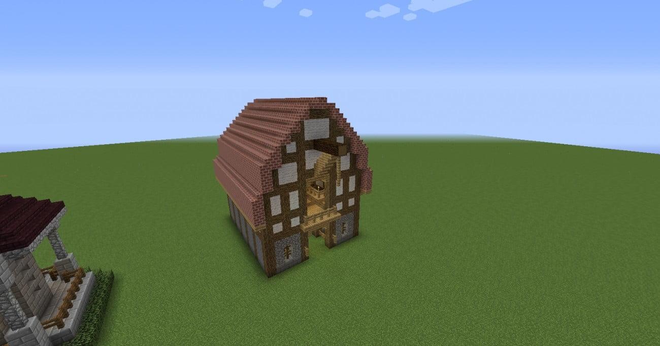 gro e scheune in minecraft bauen minecraft. Black Bedroom Furniture Sets. Home Design Ideas
