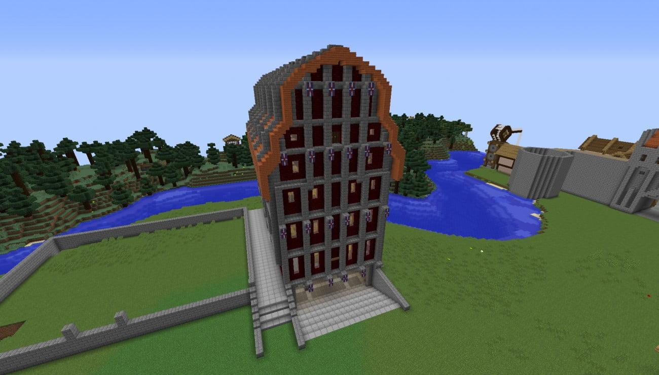 ᐅ Großer Kornspeicher In Minecraft Bauen Minecraftbauideende - Minecraft fertige hauser einfugen