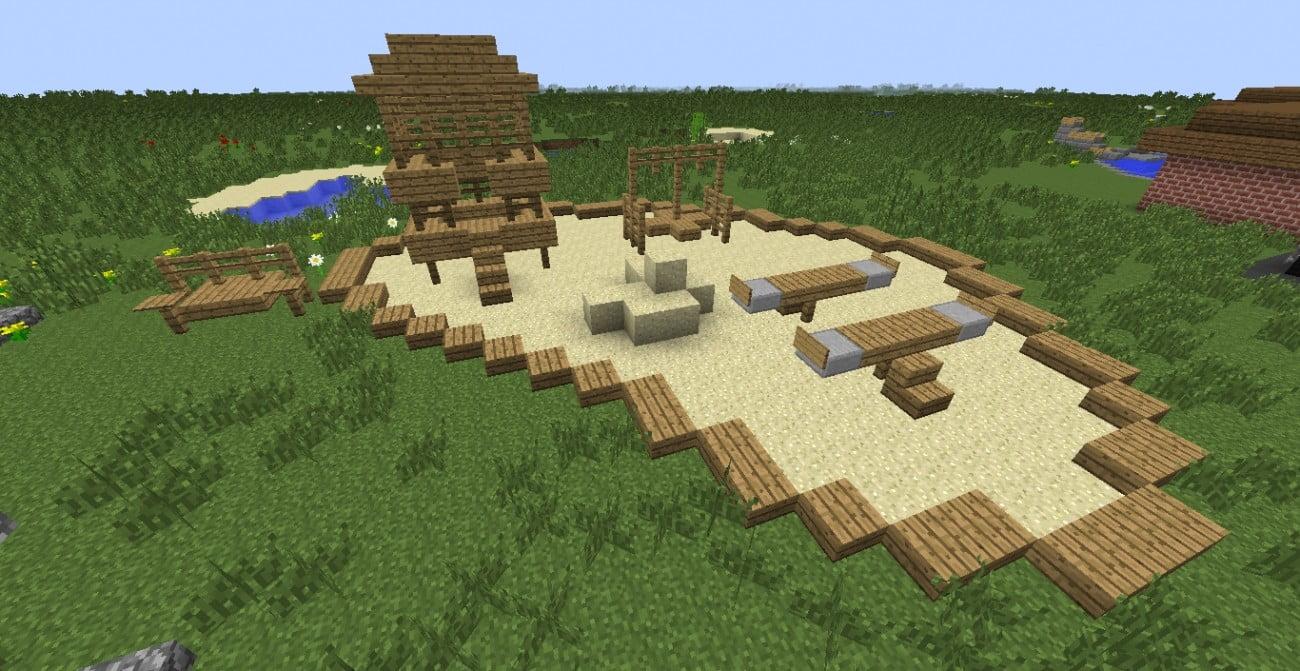 Gro er spielplatz in minecraft bauen minecraft for Bauideen minecraft